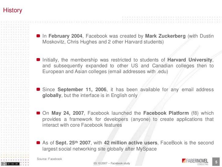 Facebook Inc Harvard Case Analysis