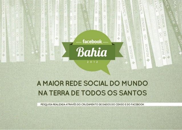 Facebook BAHIA - Dados Fevereiro 2013