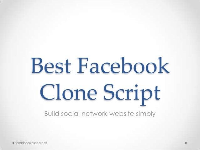 Best Facebook Clone Script