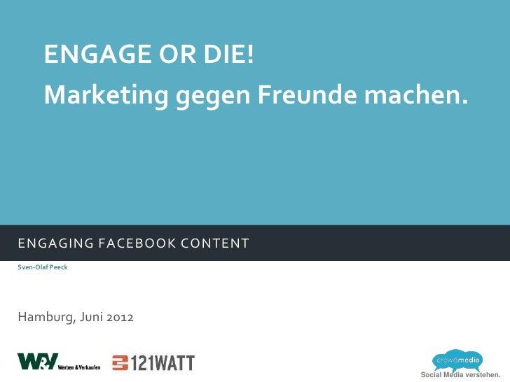 Engaging Facebook Content - wie plant und steuert man seine Posts auf Facebook Fanpages