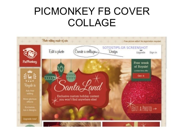 Facebook Page Cover Design using PicMonkey template