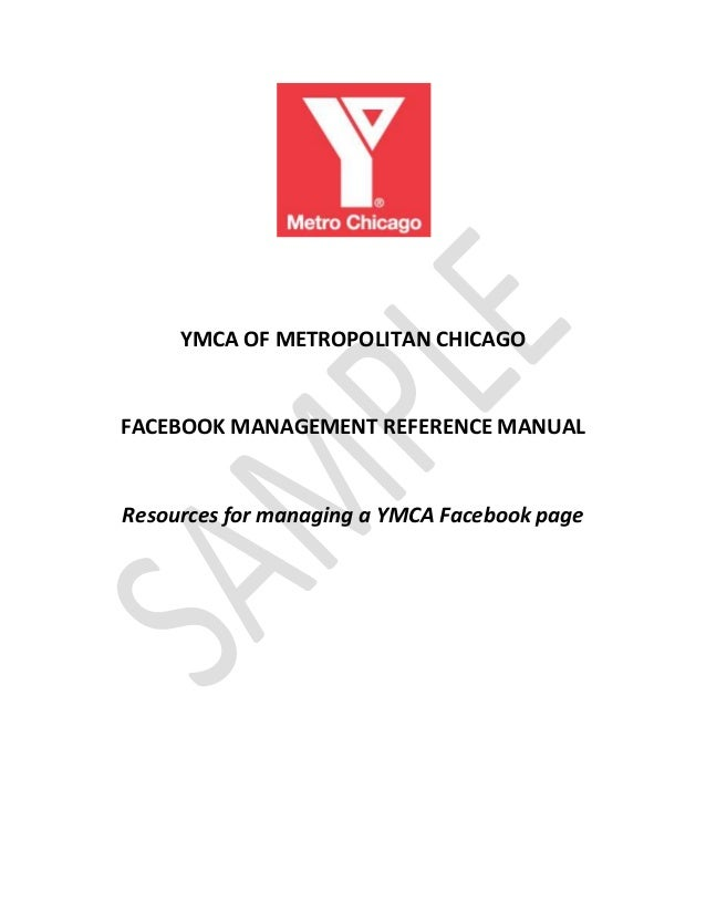 YMCA of Metro Chicago Facebook Manual and Case Study