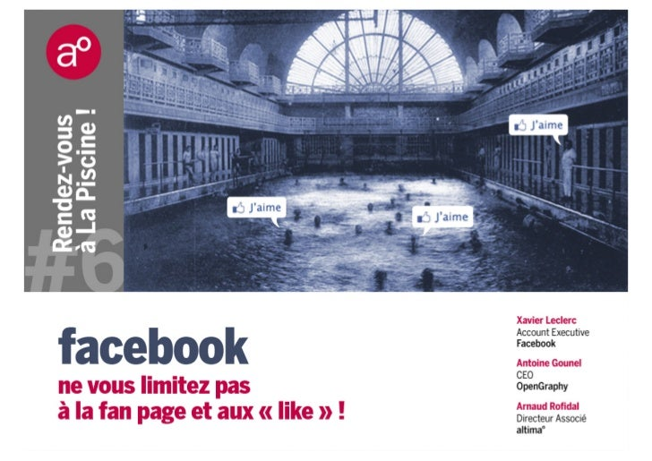 Au ProgrammeSocial DesignOpen GraphF-commerceFaceboook AdsQ&Raltima° - Conférence Facebook – Musée La Piscine de Roubaix
