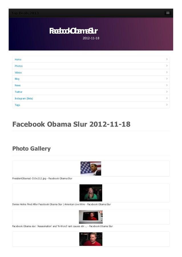 Facebook obama-slur