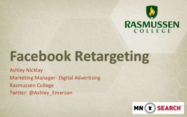 Facebook Retargeting - Ashley Nicklay