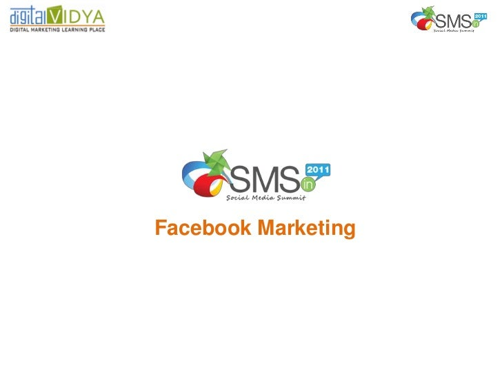 Facebook Marketing at Social Media Summit