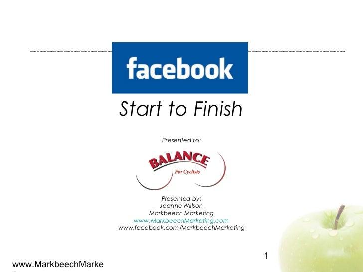 Facebook: Start to Finish (Aug 2012)