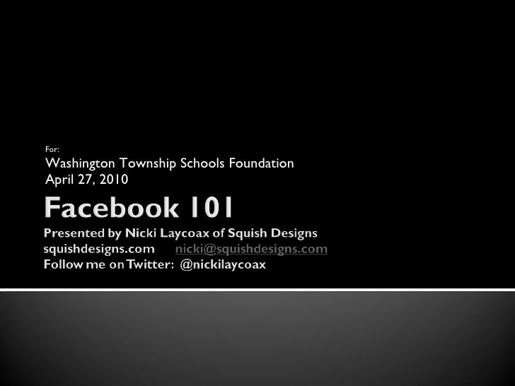 Facebook 101-Fundraising and Interaction Tips