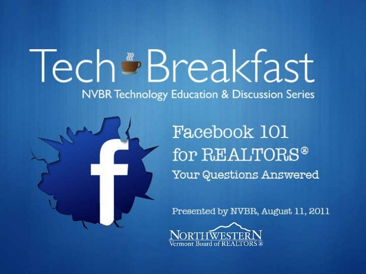 NVBR Tech Breakfast: Facebook 101 for REALTORS