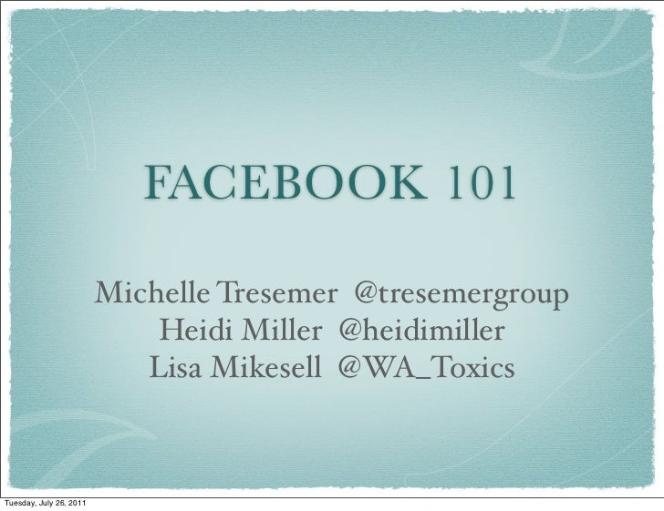 Facebook101 for Non Profits