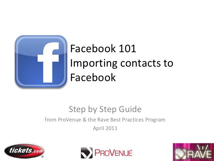 RAVE - Facebook 101 upload contacts