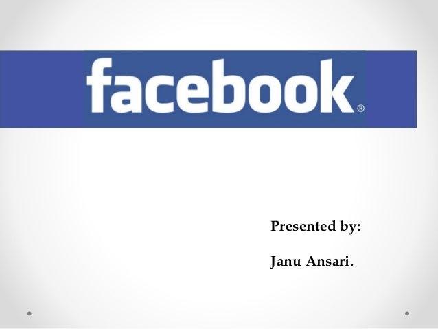 Facebook persantation