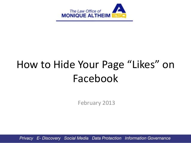 "How to Hide Your Page ""Likes"" on           Facebook            February 2013"