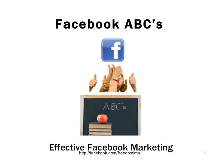 Facebook ABC's Effective Facebook Marketing