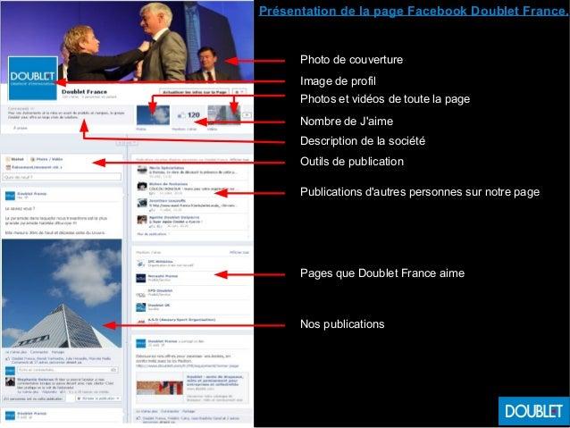 Présentation de la page Facebook Doublet France. Photo de couverture Image de profil Photos et vidéos de toute la page Nom...