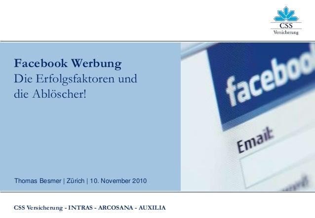 Facebook Werbung: Erfolgsfaktoren und Ablöscher