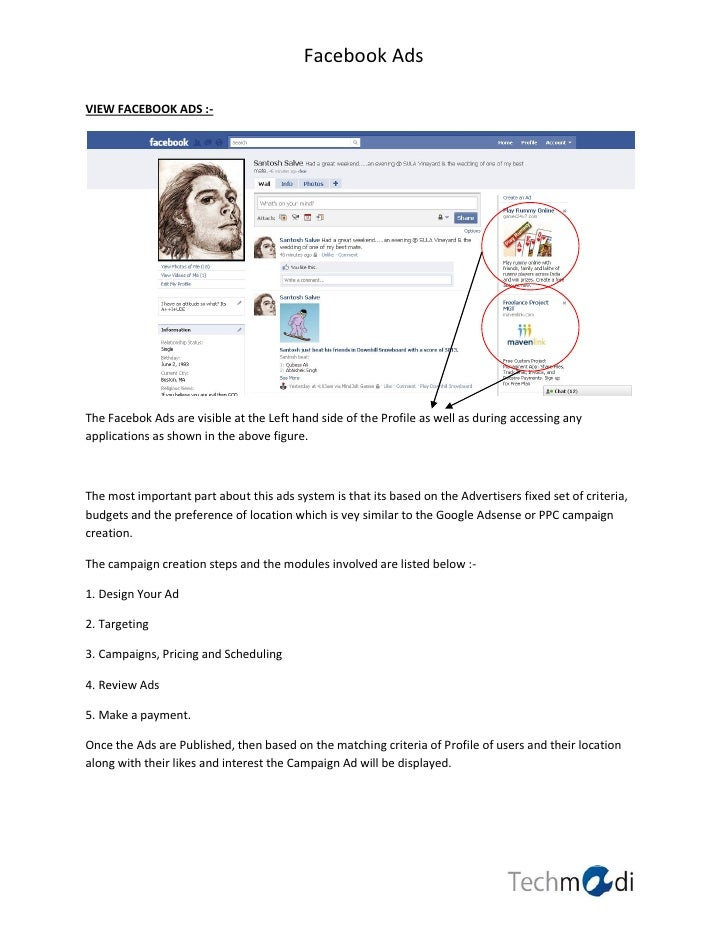 Facebook AdsVIEW FACEBOOK ADS :-The Facebok Ads are visible at the Left hand side of the Profile as well as during accessi...