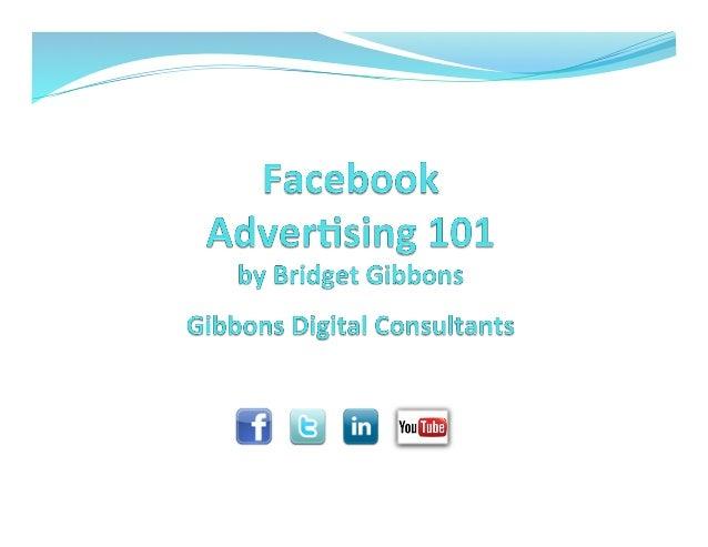 Facebook Ads 101 - Spring 2014