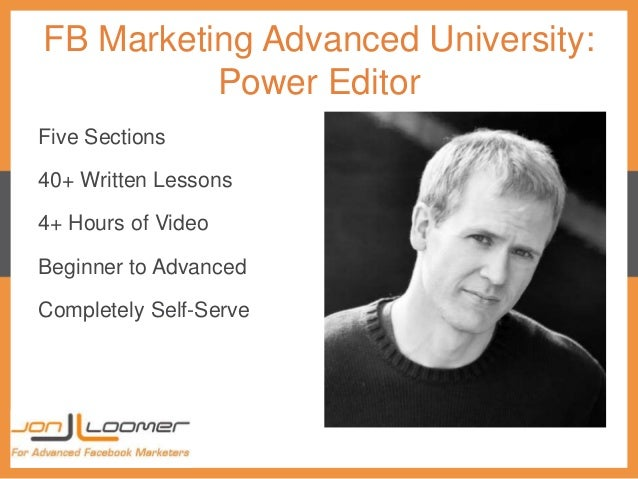 Jon Loomer – FB Marketing Advanced University