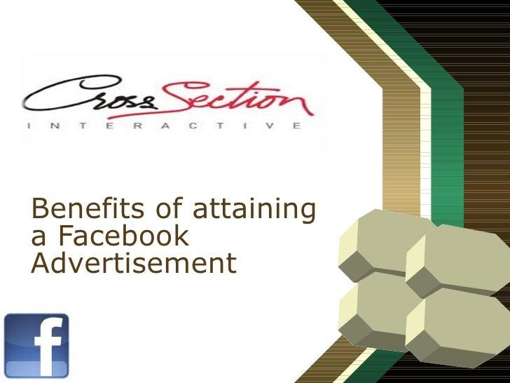 Benefits of attaining a Facebook Advertisement