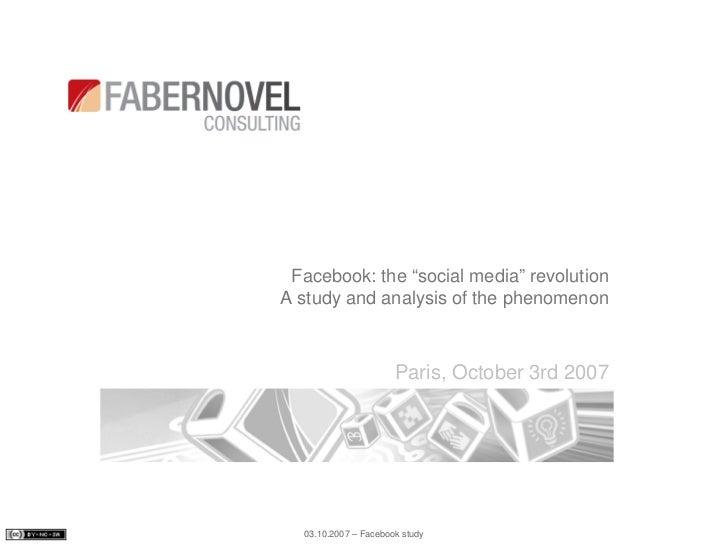 Facebook analysis and study