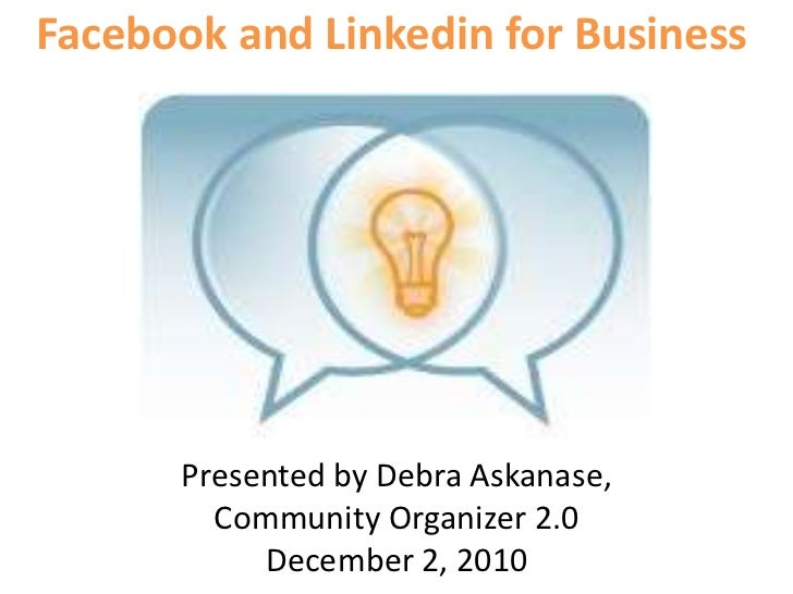 Facebook and linkedin for business
