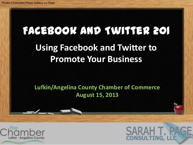 Facebook and Twitter for Business 201