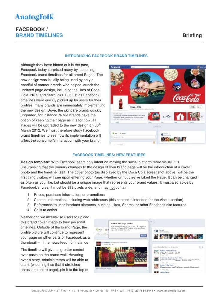 Facebook brand timelines