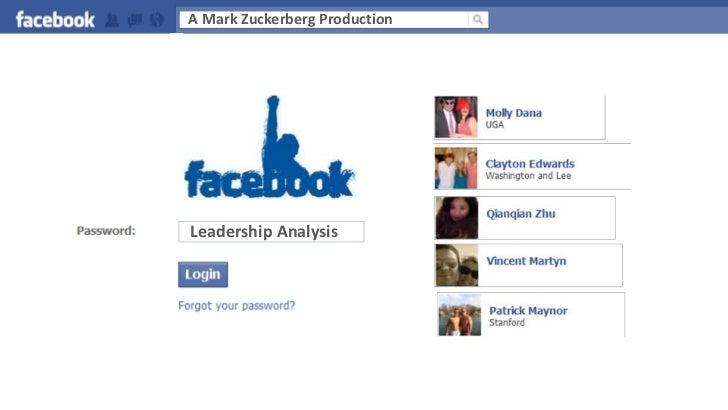 A Mark Zuckerberg Production<br />Leadership Analysis<br />
