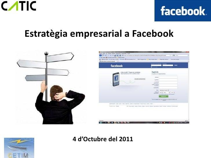 Facebook com estratègia empresarial cetim