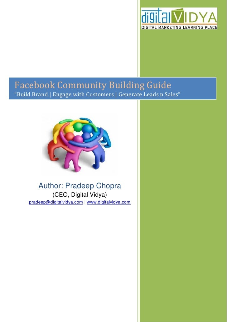 "Facebook Community Building Guide ""Build Brand 