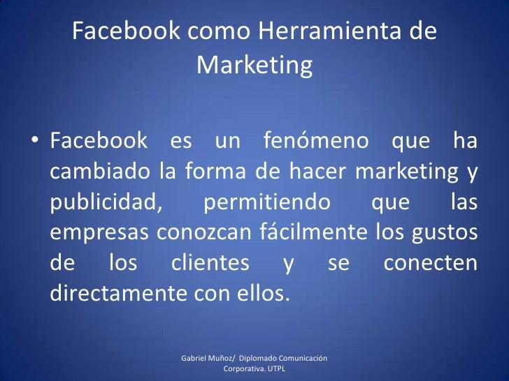 Facebook Como Herramienta De Marketing
