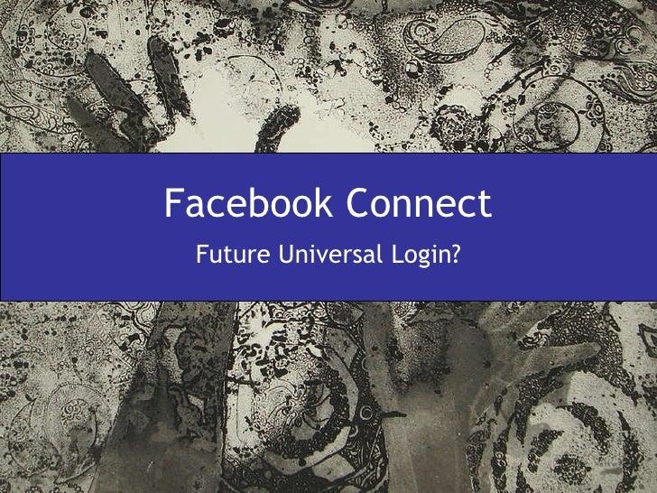 Facebook Connect Future Universal Login?