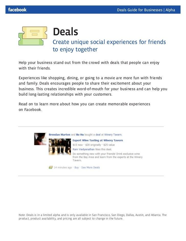 Facebook Deals Sales Deck