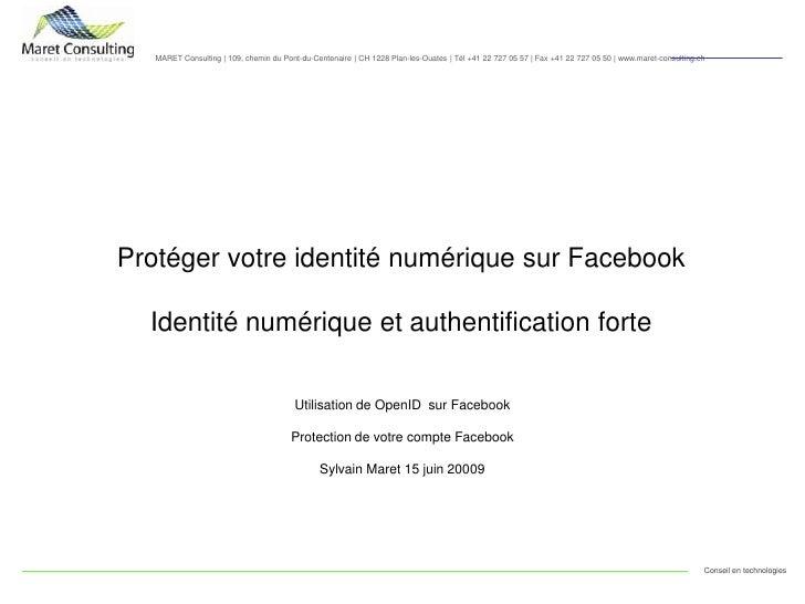 OpenID et Facebook