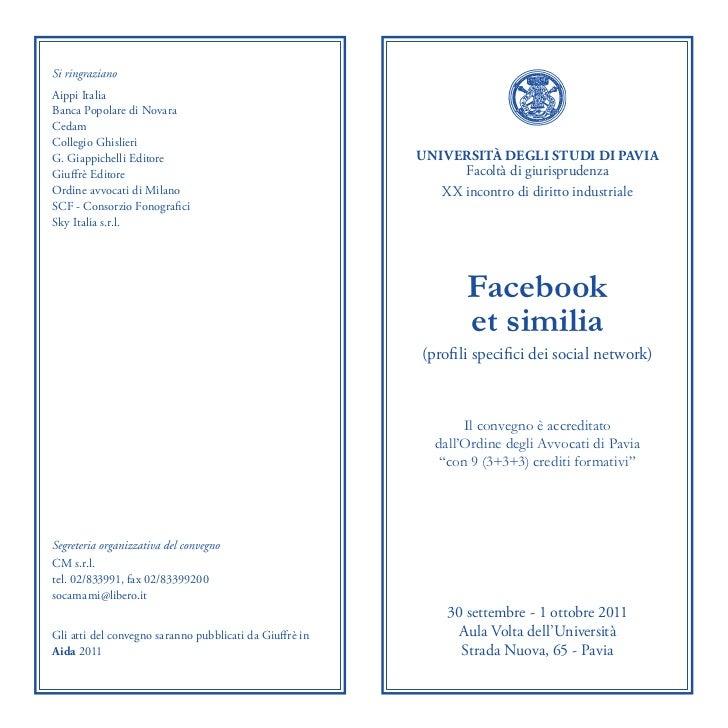 Aippi ItaliaBanca Popolare di NovaraCedamCollegio GhislieriG. Giappichelli Editore                                 UNIVERS...