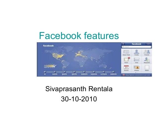Facebook features Sivaprasanth Rentala 30-10-2010