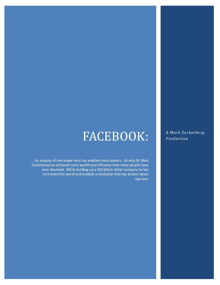 20001549402000200660FACEBOOK:An analysis of one leader who has enabled many leaders.  At only 26 Mark Zuckerberg has achie...