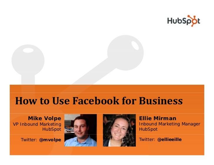 Facebook For Business Hub Spot Nov2008[1]