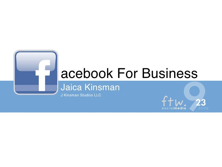 acebook For Business Jaica Kinsman J Kinsman Studios LLC