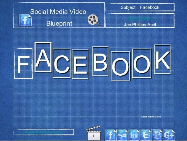 1 Social Media Video Blueprint Subject: Facebook Rick Toone Jen Phillips April www.SocialMediaVideoBlueprint.com AACCEE BB...