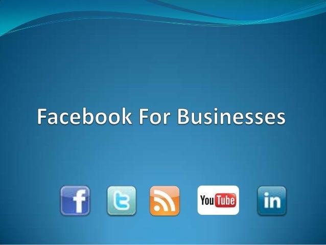 Facebook for business spr 2013