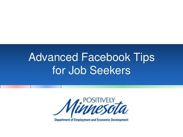 Advanced Facebook Tips for Job Seekers