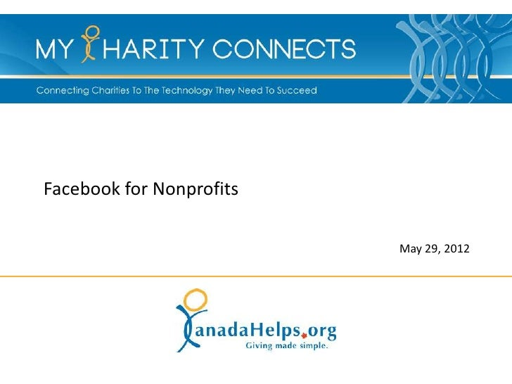 Facebook for Nonprofits                          May 29, 2012