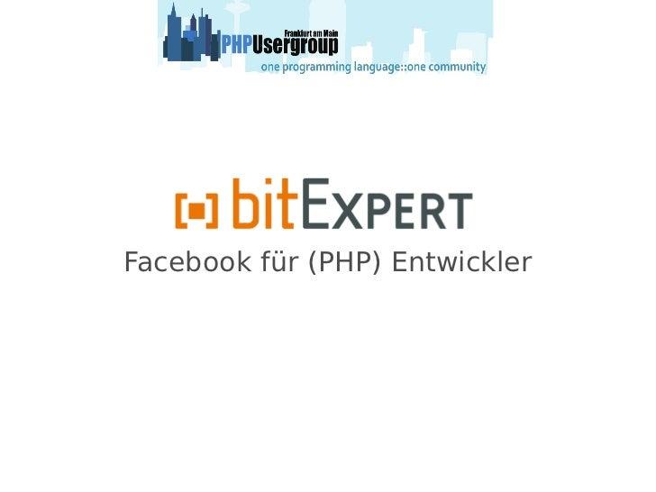 Facebook für PHP Entwickler - phpugffm