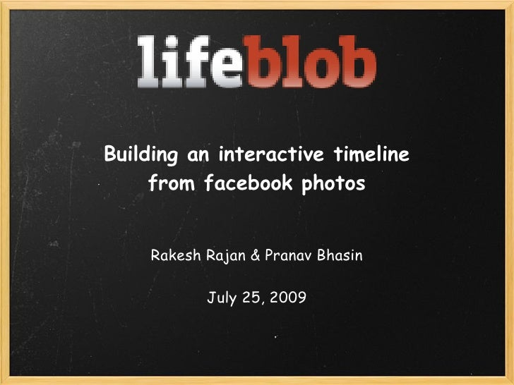 Building an interactive timeline from facebook photos