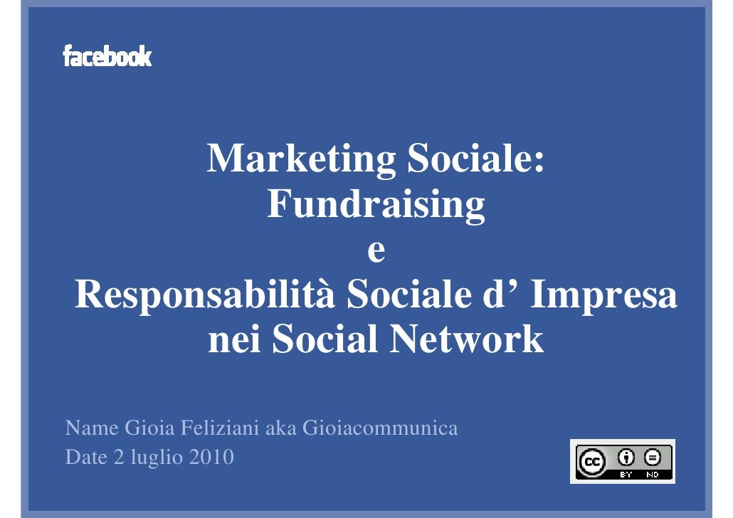 Facebook Developer Garage Venice: Marketing Sociale sui Social Network