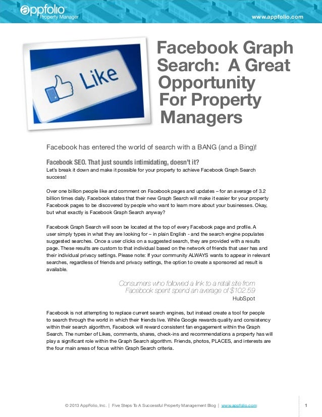 Facebook Graph Search: A Great Opportunity for Property Managers (eBook)