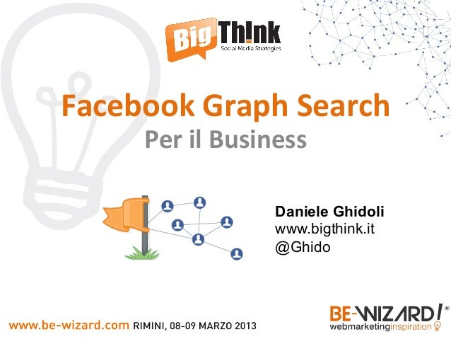 Facebook	  Graph	  Search	         Per	  il	  Business	                            Daniele Ghidoli                        ...