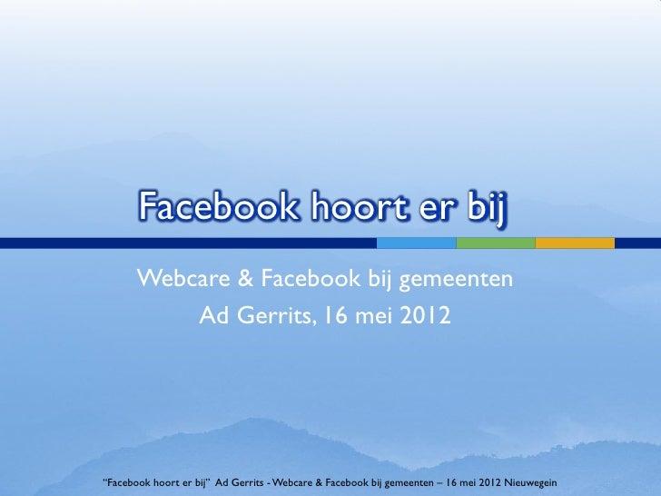 Facebook hoort er bij